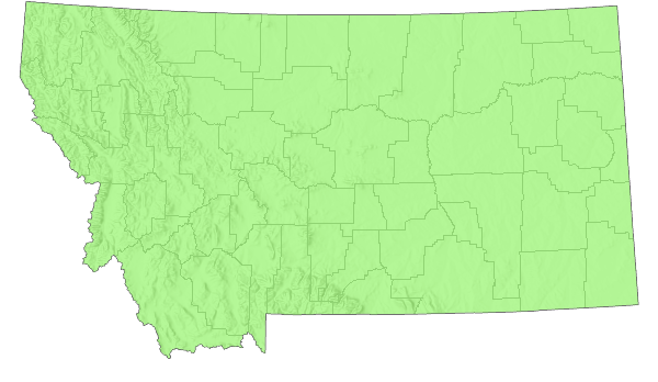 Western Meadowlark Montana Field Guide - Map of western montana